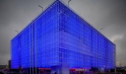 Illuminierter Shanghai-Corporate-Pavilion