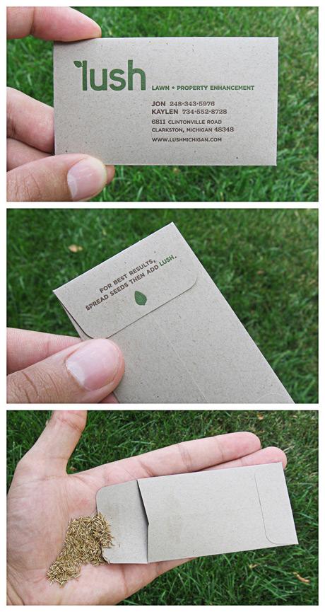 Nachhaltige Visitenkarten Lilli Green