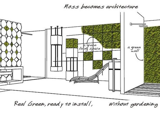 Vertikaler Garten für Büro und Wohnung – Lilli Green