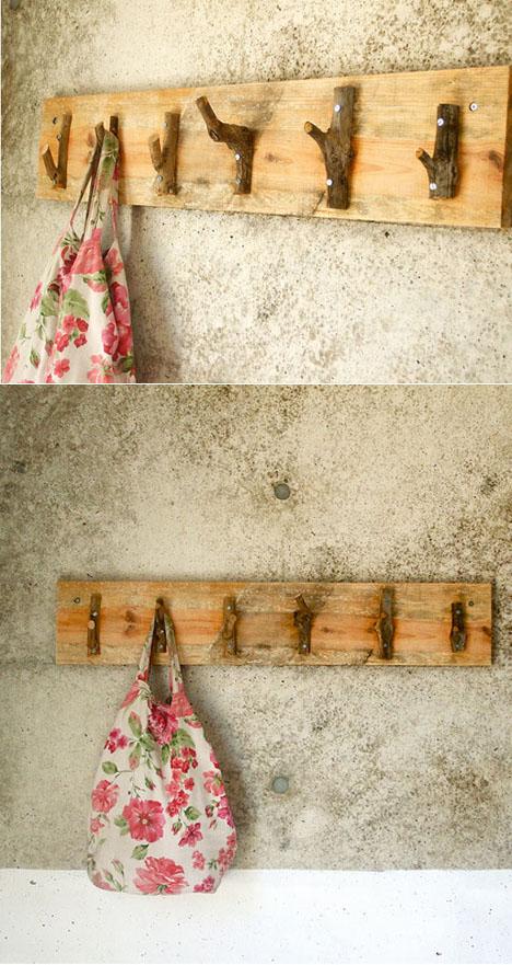 Möbel Aus ästen Selber Bauen garderobenhaken aus ästen lilli green magazin für nachhaltiges