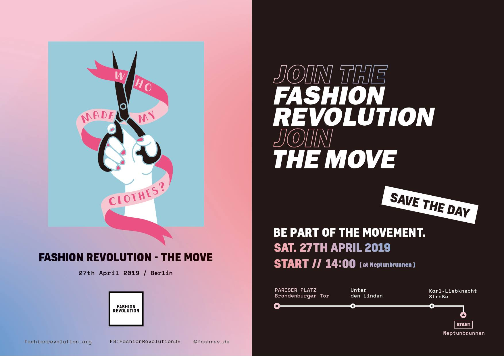 Fashion Revolution Week - Aktion in Berlin