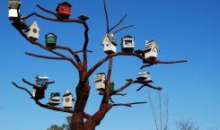 vogelhaus kette auf baum