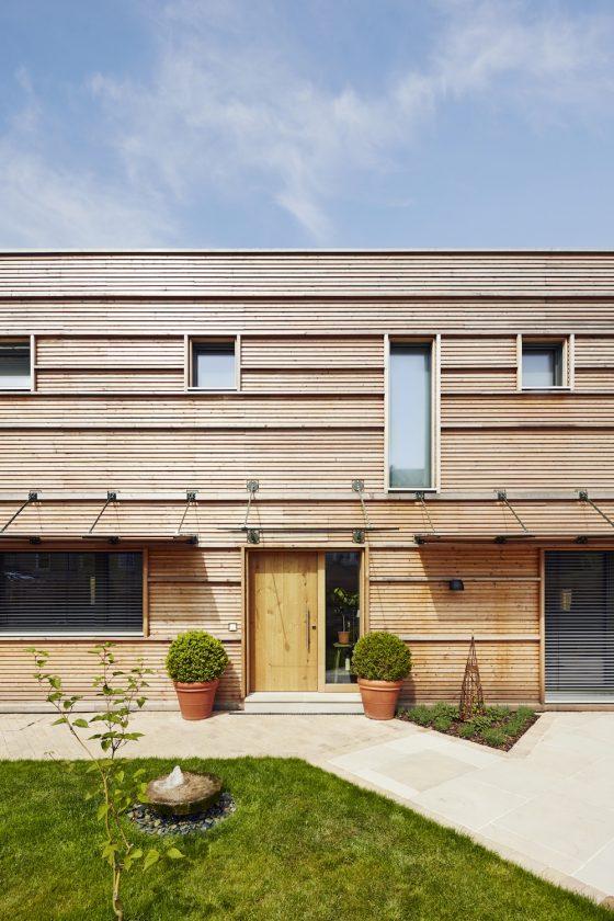 Bauen mit Holz - Hausfront