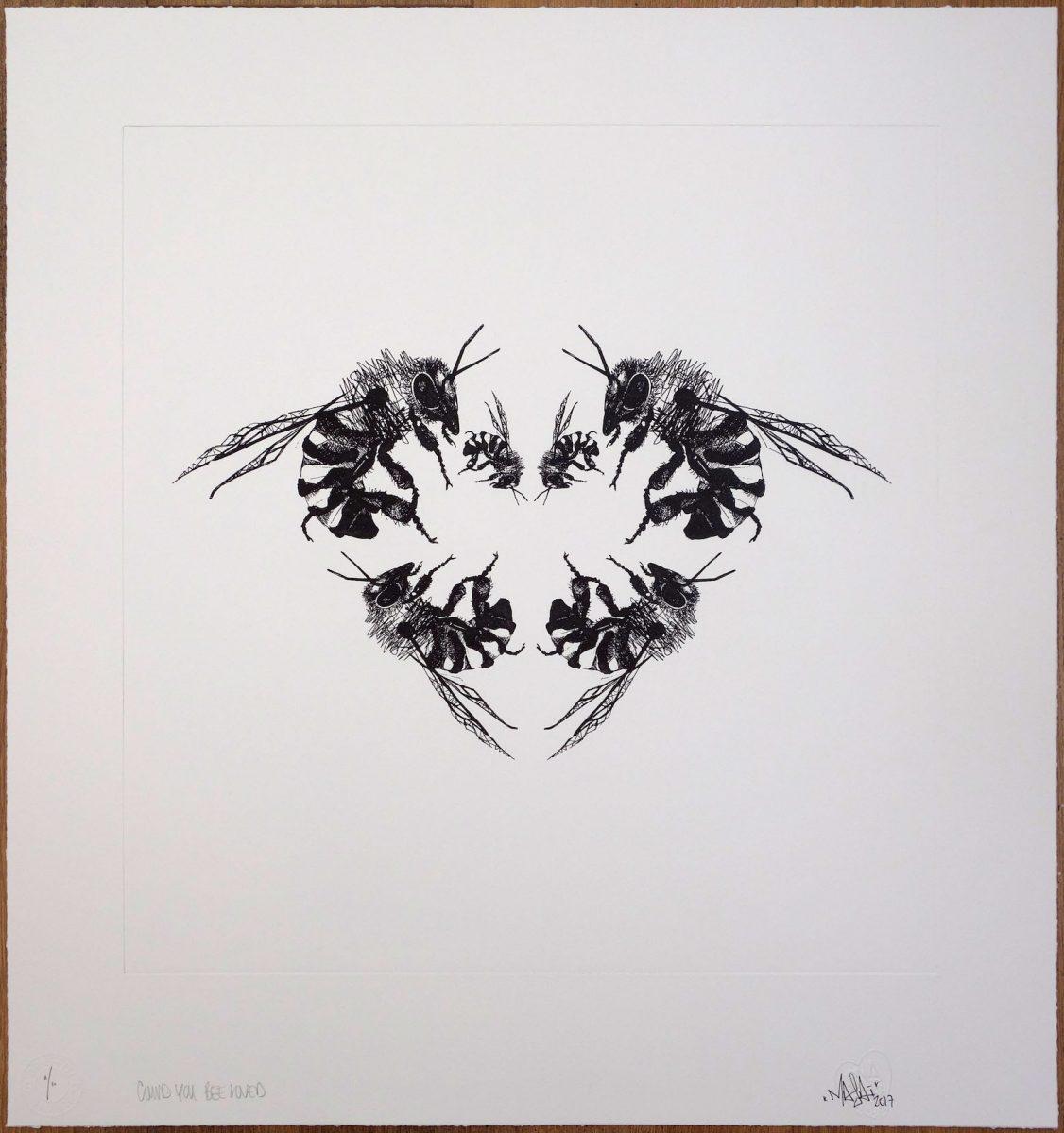 Bienenherz Zeichnung