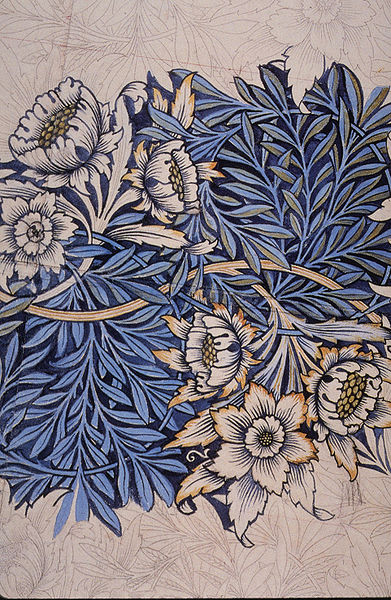 Blumen Indigo - Design William Morris