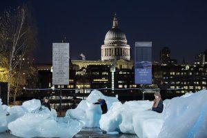 Eisberge in London, Installation von Olafur Eliasson