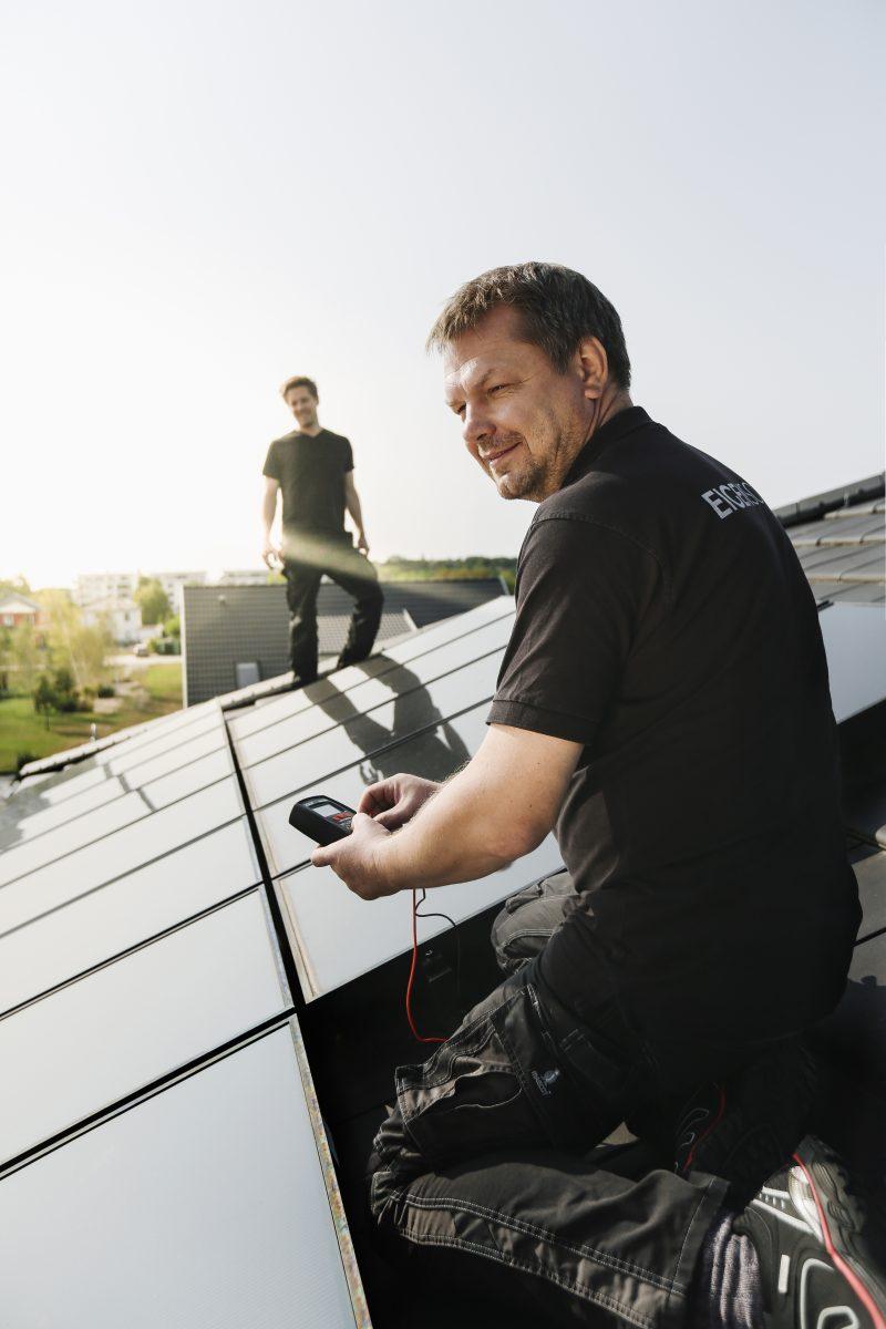 Photovoltaik Installation von Eigensonne