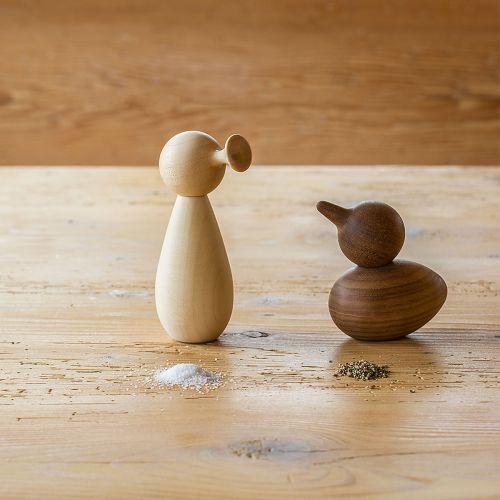 Pfeffer und Salzstreuer aus Holz - Voegel