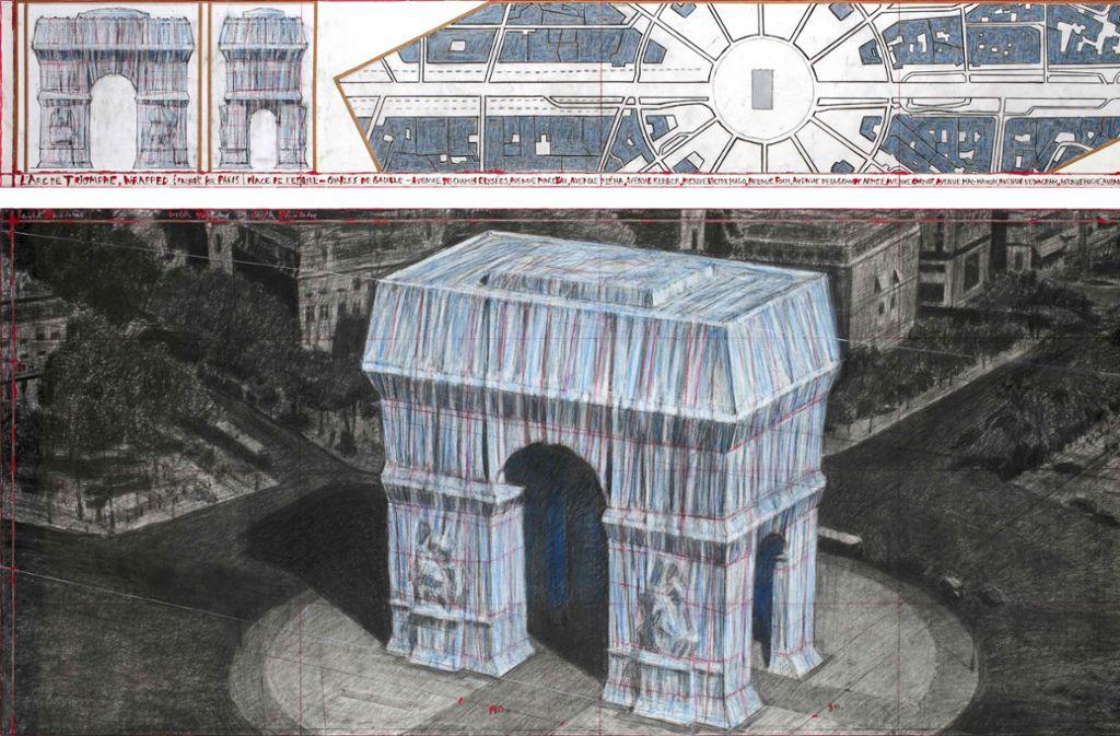 Christo Arc de Triomphe Plastikverschwendung oder Kunst