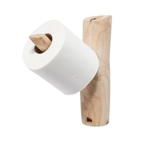 Plastikfreies Badezimmer: Toilettenpapierhalter aus Holz