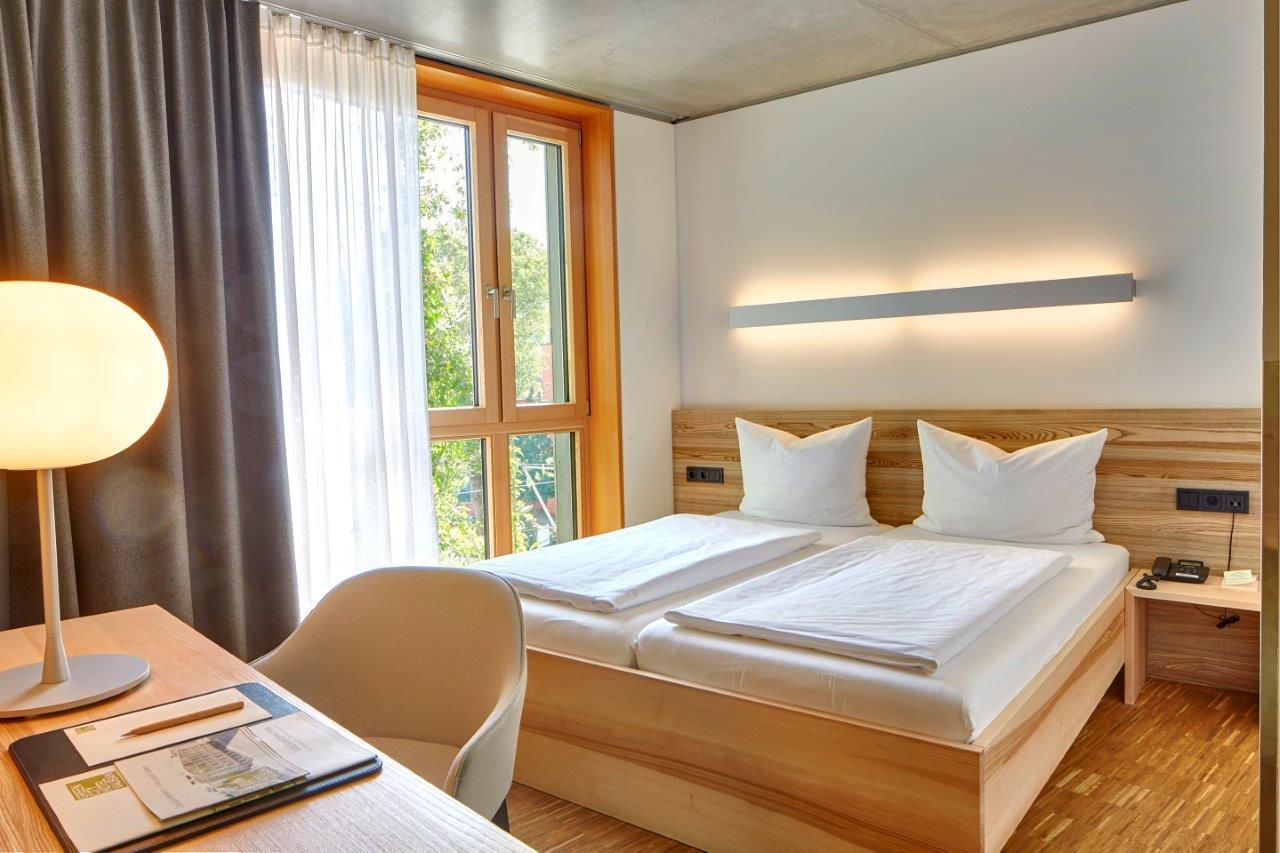 Zimmer im Green City Hotel Vauban Freiburg - Nachhaltiges Hotel