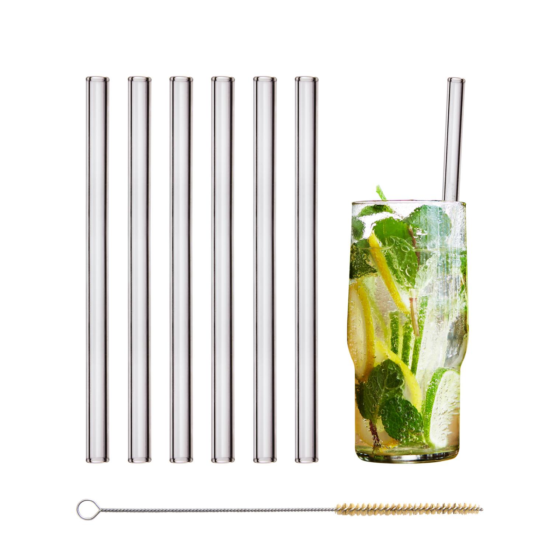 Plastikfreie Strohhalme aus Glas von Halm
