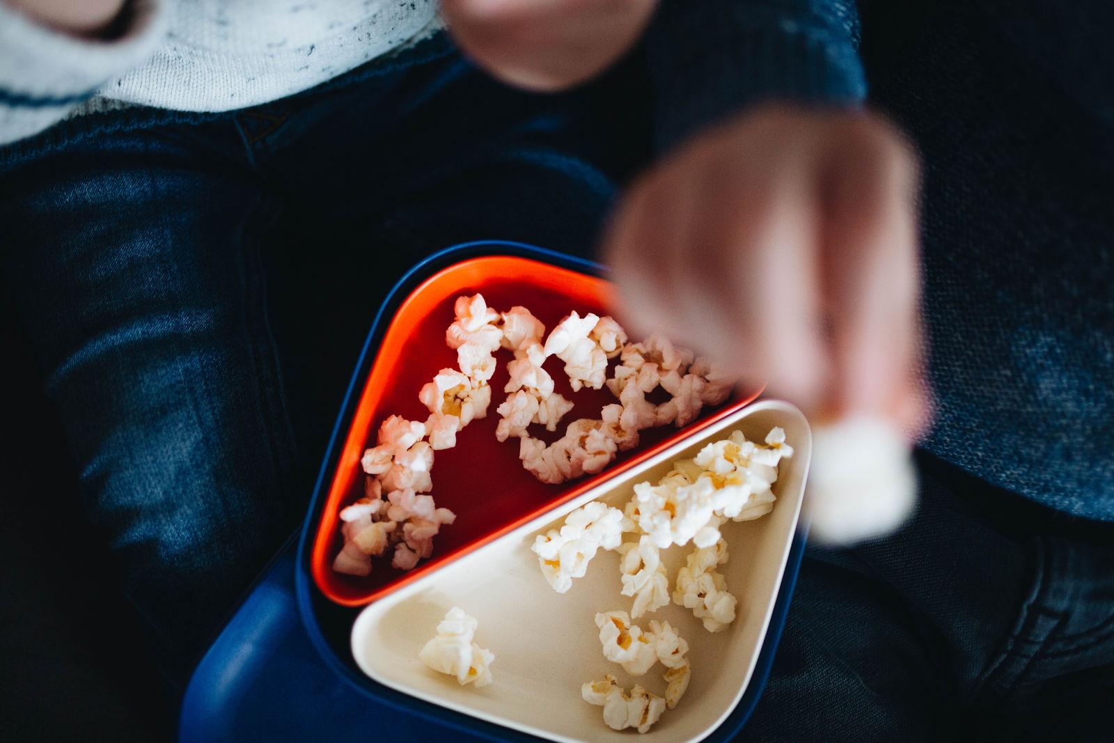 Bento Lunchbox Ekobo Square aus Bambusfaser Kinder Brotbox Popcorn