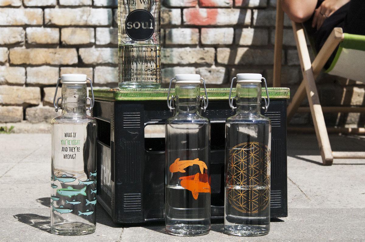 Nachhaltige Trinkflaschen aus Glas von Soulbottles
