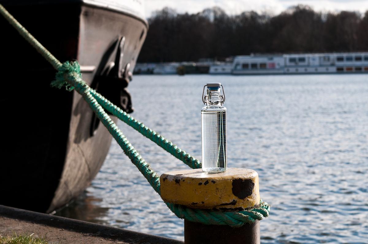 Trinkflasche Soulbottles Heimatwasser mit Schiff und Wasser