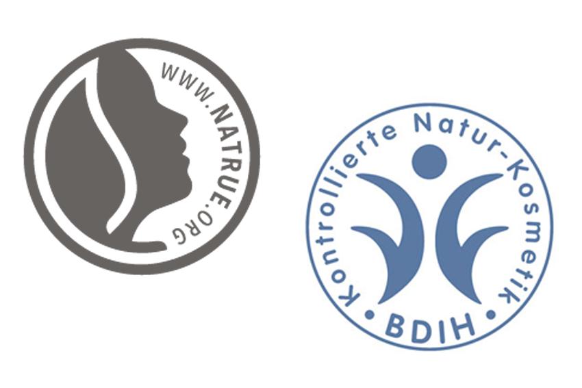 Naturkosmetik Siegel - BDIH und NaTrue Label