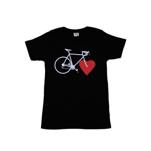 Nachhaltige Fahrradtipps - Bike Love - T-Shirt mit Fahrrad und Herz