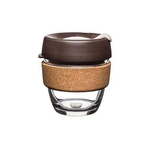 KeepCup Brew Cork Edition Almond - Mehrwegbecher aus Glas und Kork