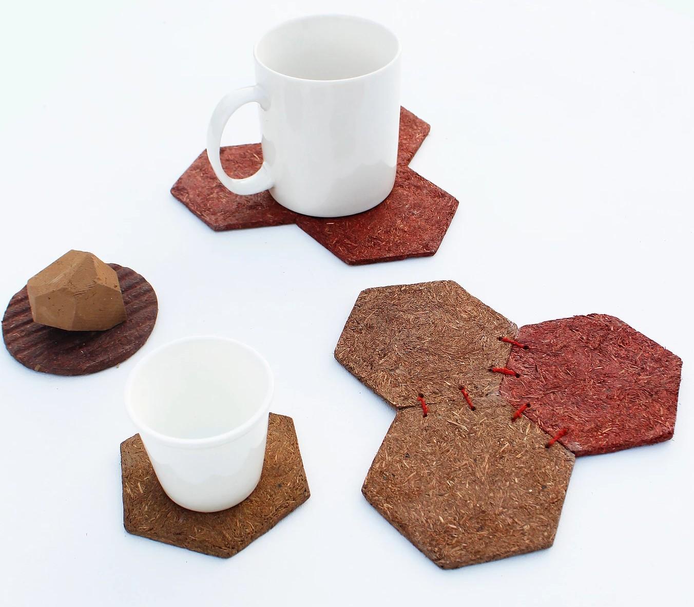 Untersetzer aus Naturmaterialien