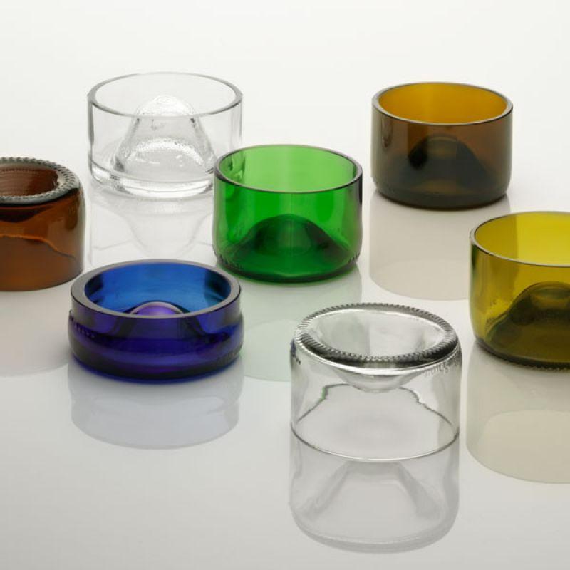 Upcycling Wohndesign - Aschenbecher aus Recyclingglas