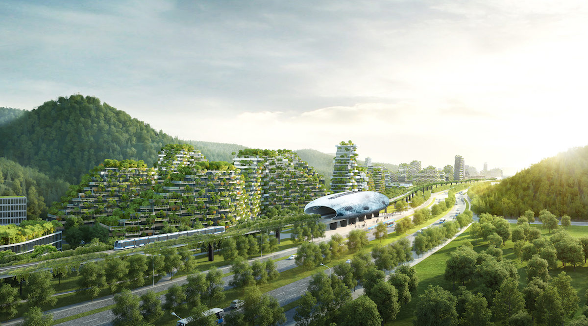 Gruene Architektur: Liouzhou Forest city