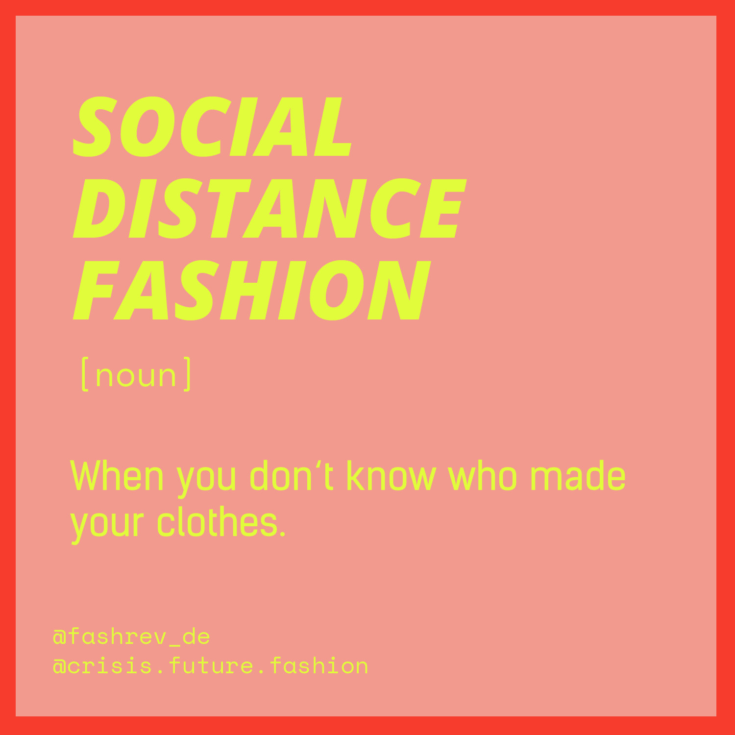 Social Distance Fashion
