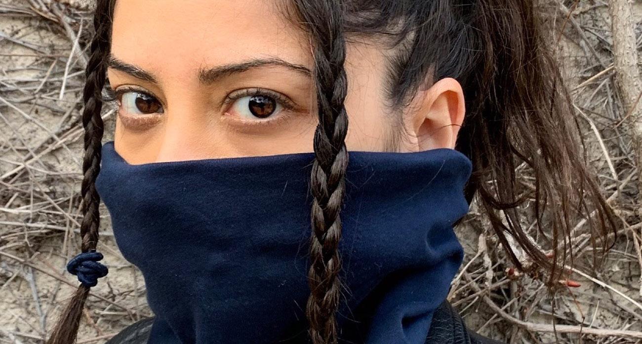 Nachhaltig und oekologisch produziert - Mund Nase Maske von Kollateralschaden