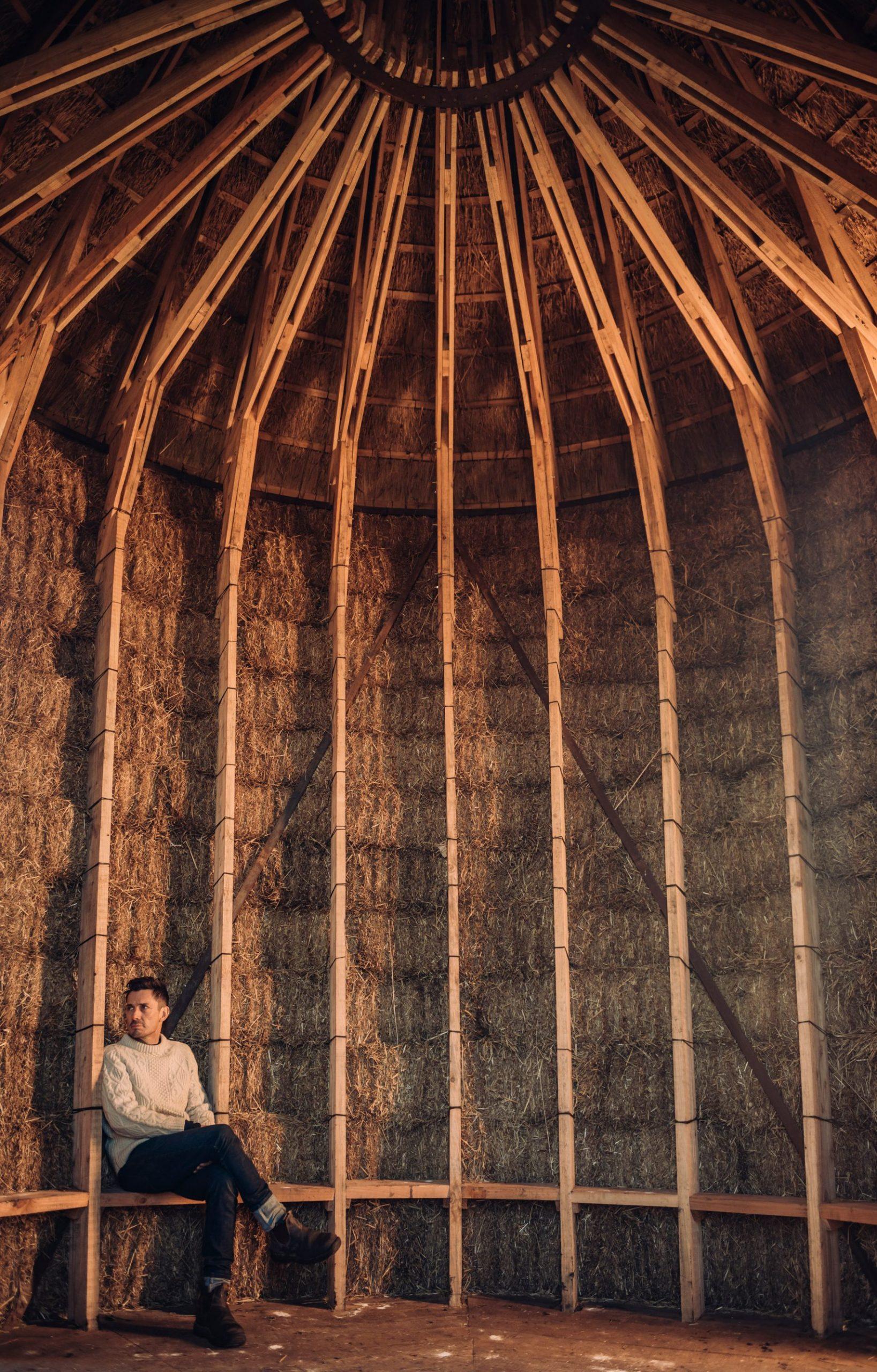Strohhuette von Innen - Innendesign der Naturhuette