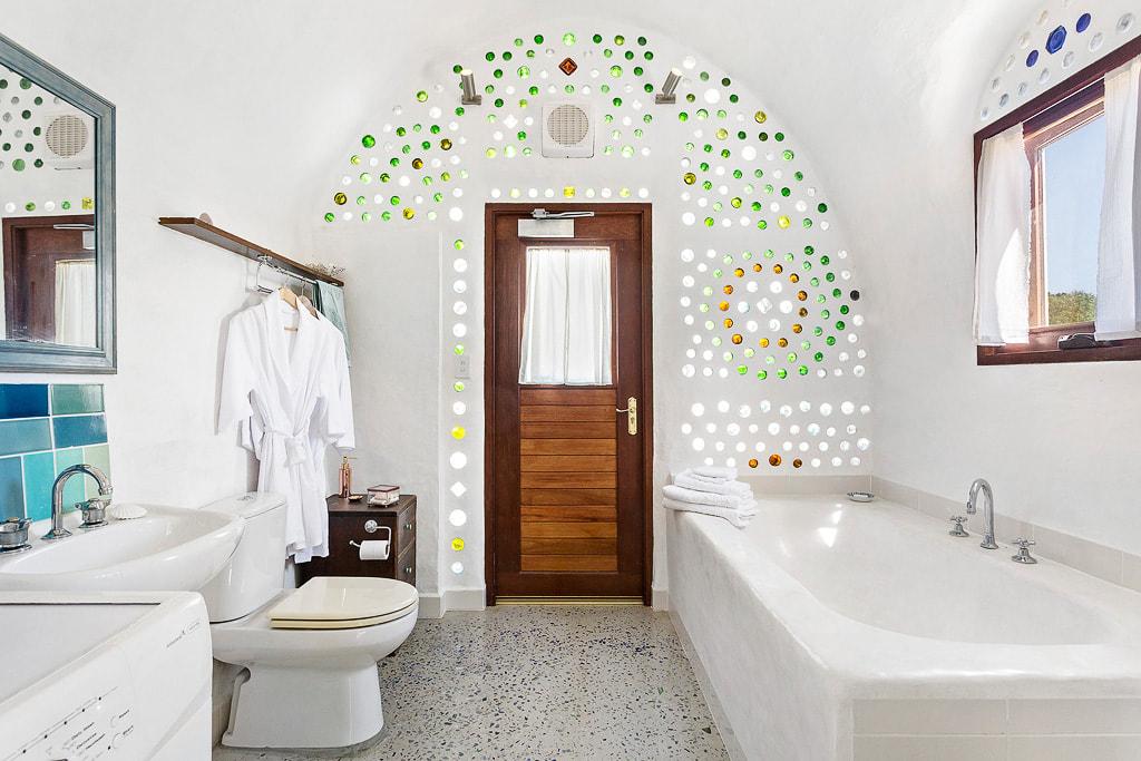 Badezimmer im Erdhaus