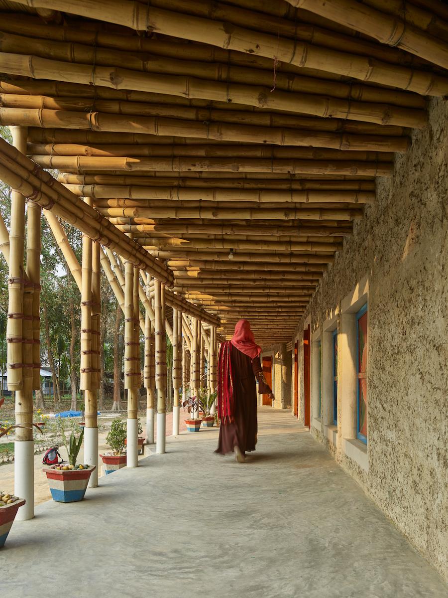 Haus aus Bambus und Lehm