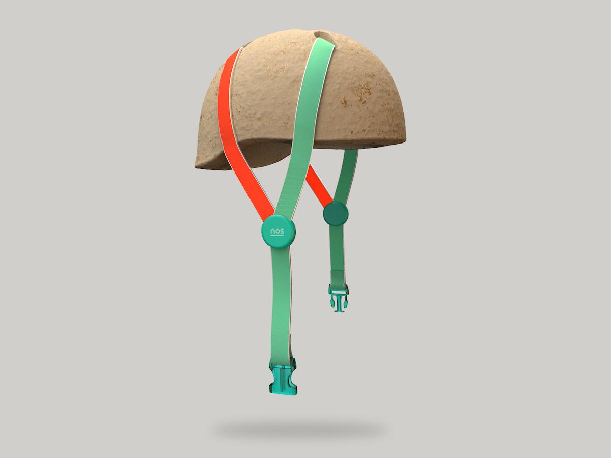 Nachhaltiger Fahrradhelm aus Pilzen von NOS Design